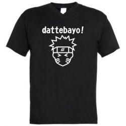 Чоловіча футболка з V-подібним вирізом Naruto dattebayo!