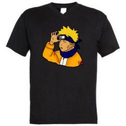 Мужская футболка  с V-образным вырезом Narutooo