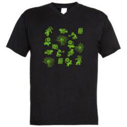 Чоловіча футболка з V-подібним вирізом Наскальний Живопис