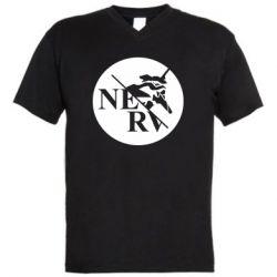 Чоловіча футболка з V-подібним вирізом Nerv