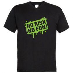 Чоловіча футболка з V-подібним вирізом No Risk No Fun