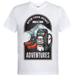Чоловіча футболка з V-подібним вирізом Open Your Heart