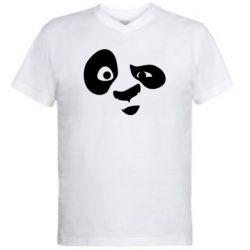 Чоловіча футболка з V-подібним вирізом Panda Po