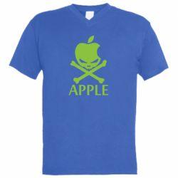 Мужская футболка  с V-образным вырезом Pirate Apple