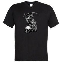Чоловіча футболка з V-подібним вирізом Plague Doctor graphic arts