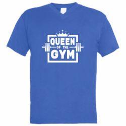 Чоловіча футболка з V-подібним вирізом Queen Of The Gym
