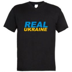 Мужская футболка  с V-образным вырезом Real Ukraine