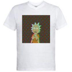 Мужская футболка  с V-образным вырезом Rick Fck Hologram