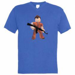 Чоловіча футболка з V-подібним вирізом Roblox Prisoner