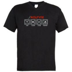 Чоловіча футболка з V-подібним вирізом Routine code