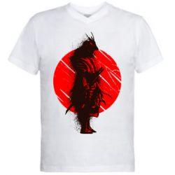 Чоловіча футболка з V-подібним вирізом Samurai spray