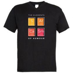 Чоловіча футболка з V-подібним вирізом Sarcasm