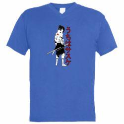 Чоловіча футболка з V-подібним вирізом Sasuke Art
