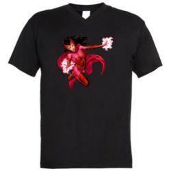 Чоловіча футболка з V-подібним вирізом Scarlet Witch comic art