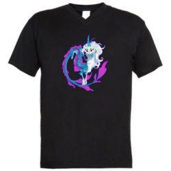 Чоловіча футболка з V-подібним вирізом Sisu Dragon Art