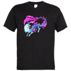 Чоловіча футболка з V-подібним вирізом Sisu Water Dragon