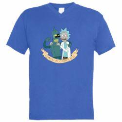 Чоловіча футболка з V-подібним вирізом Space alcoholics