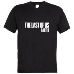 Мужская футболка  с V-образным вырезом The last of us part 2 logo