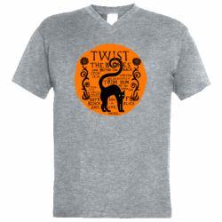 Мужская футболка  с V-образным вырезом TWIST