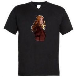 Чоловіча футболка з V-подібним вирізом Vanda's portrait