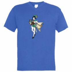 Чоловіча футболка з V-подібним вирізом Venti Genshin Impact