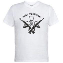 Чоловіча футболка з V-подібним вирізом Veteran machine gun