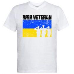 Чоловіча футболка з V-подібним вирізом War veteran
