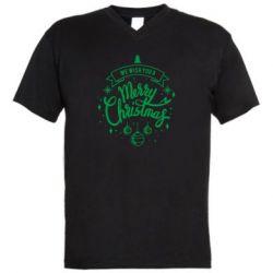 Чоловіча футболка з V-подібним вирізом We wish you a