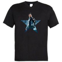 Чоловіча футболка з V-подібним вирізом Winter Soldier Star