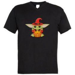 Чоловіча футболка з V-подібним вирізом Yoda conjures