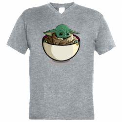 Чоловіча футболка з V-подібним вирізом Йода