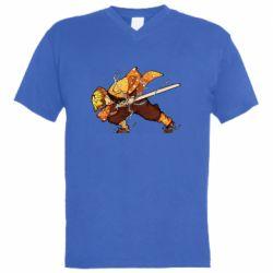 Чоловіча футболка з V-подібним вирізом Zenitsu Demon Slayer