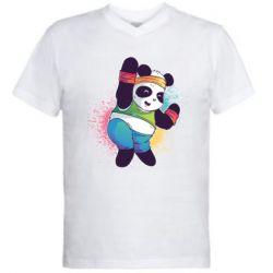 Чоловіча футболка з V-подібним вирізом Zumba Panda