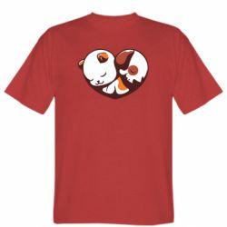Чоловіча футболка Сердечко. Котик и собачка