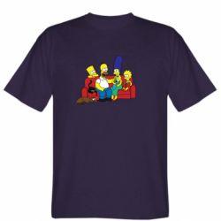 Мужская футболка Simpsons At Home
