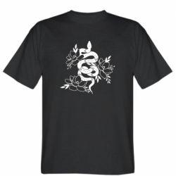 Чоловіча футболка Snake with flowers