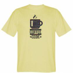Чоловіча футболка Сoffee code
