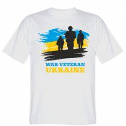 Чоловіча футболка War veteran оf Ukraine