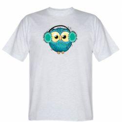 Мужская футболка Winter owl