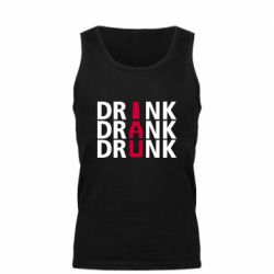Мужская майка Drink Drank Drunk