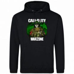 Чоловіча промо толстовка Call of duty Warzone ghost green background