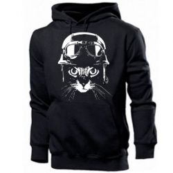 Чоловіча промо толстовка Cat in a helmet silhouette