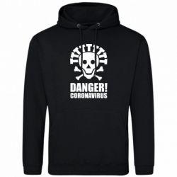 Чоловіча промо толстовка Danger coronavirus!