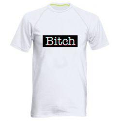 Мужская спортивная футболка Bitch glitch