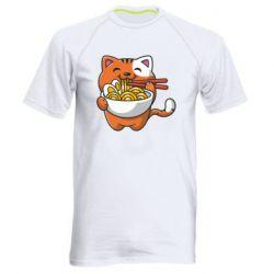 Чоловіча спортивна футболка Cat and Ramen