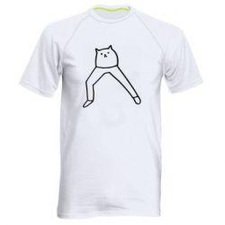 Чоловіча спортивна футболка Cat in pants