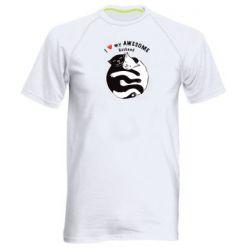 Мужская спортивная футболка Cats and love