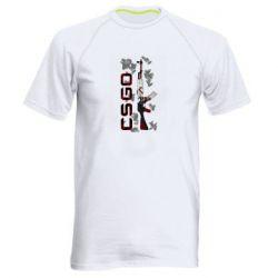 Мужская спортивная футболка CSGO and gun