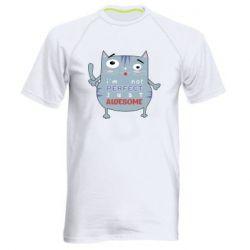 Мужская спортивная футболка Cute cat and text