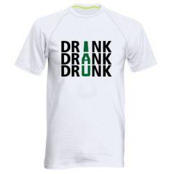 Мужская спортивная футболка Drink Drank Drunk